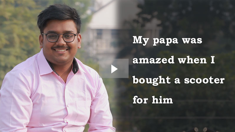 'My papa was amazed when I bought a scooter for him' - Ayushman Pandey