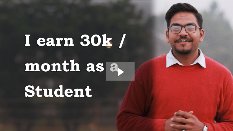 'I earn 30K by giving Home Tuition while Preparing for CA!, And I belive teaching tutions has helped me imporve my personality.' - Shivansh Pandey